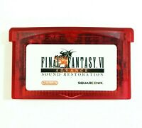 Final Fantasy 6 VI Advance RESTORED for Nintendo Game Boy Advance custom GBA