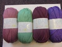 5 x 100g Balls of Hayfield Baby Chunky Wool/Yarn for Knitting/Crochet