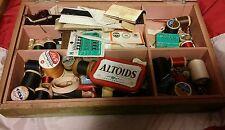000 Vintage Sewing Lot Thread, Needles, Lace, etc Clarks, Coats, Belding