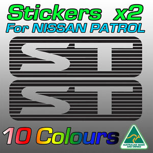 Nissan Patrol ST stickers decals for GU model   *Premium quality* by AustImages