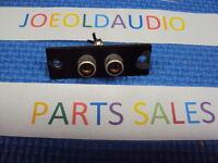 Benjamin Stereo Model 1031 Original RCA Jack Panel Read Below.Parting Out 1031