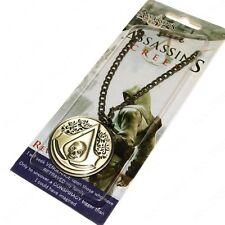 ASSASSINS CREED 3D METAL Necklace Brotherhood Black Flag Symbol