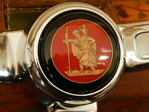 St. Christopher Horn Button for VW + Karmann Ghia Petri + EMPI Steering Wheel