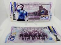 ✔ Russland Souvenir banknote 100 rubles Fifa World Cup 2018 UNC Team Uruguay