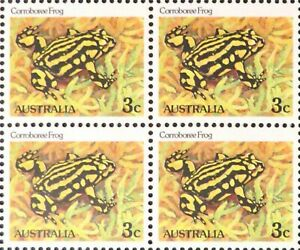 Australian 1982 MNH Block of 4x 3c Stamps - Corroboree Frog variety Issues