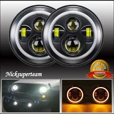 7 Inch Round LED Headlights Halo Angel Eyes for 1997-2018 Jeep Wrangler JK JKU