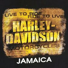 Harley Davidson Motorcycles Jamaica Tee Shirt Mens Xl Biker Live To Ride Black