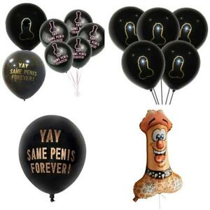 Hen Night Party Naughty Penis Willies Latex Large Foil Balloons Willy
