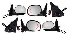 New Chrome Left & Right Side Mirror w/signal PAIR for 1998 1999 Ford F150