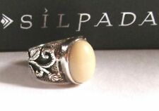Silpada  Bamboo Coral, Sterling Silver Ring Size 7.75 - 8 R1635 Retired!