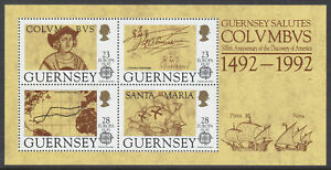 Guernsey - 1992, Discovery of America by Columbus sheet - MNH - SG MS560
