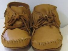 LEATHER ELKSKIN MOCCASIN NATIVE  MOUNTAIN MAN,SASS men 11 handmade