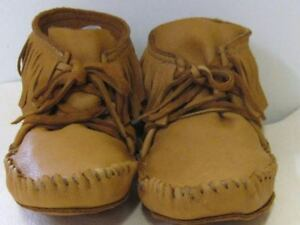 LEATHER ELKSKIN MOCCASIN NATIVE  MOUNTAIN 11 moccasins