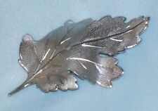 Vintage STERLING SILVER LEAF PIN signed CARL ART Carl-Art CA