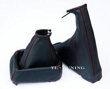 Schaltsack + Handbremssack FADEN ROT passend für OPEL VECTRA A Bj. 88-95 Leder