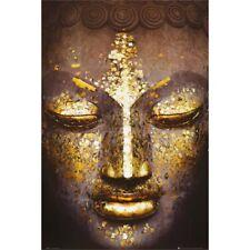 Buddha Golden Face Inspirational Poster Art Print 24x36 inch