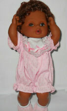 "1998 CITITOY African Am. Plastic & vinyl 10"" Doll for Reborn or Play Drinks Wets"