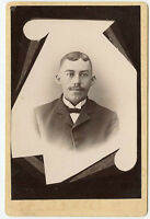 Cabinet Photo - Memorial Type - Man With Dark Eyes / Moustache