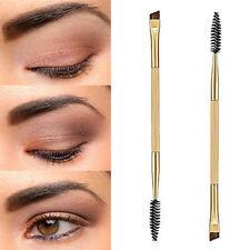 Eyebrow Shaping Duo Double Ended Flat Angled Eyeliner Mascara Make Up Brush UK