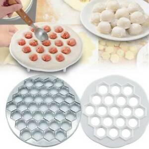 19/37Holes Dumpling Maker Kitchen Dough Press Ravioli Making Mold Mould UK