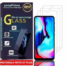 "3 Láminas Cristales Templado Protector Pantalla Motorola Moto E7 Plus 6.5"""