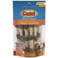 New 10 Pack Of Cadet Gourmet Triple Flavored XL Shish Kabob Treats Free Shipping