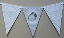 PERSONALISED CHRISTENING Boy Girls BUNTING - BANNER Baptism Photo Flags