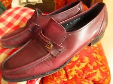 10 A Vintage Florsheim Purple Loafers/Shoes Kid Leather Slip On Dress Shoes