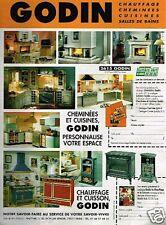 Publicité advertising 1996 Les cheminées et chauffage Godin