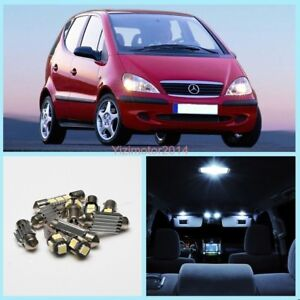 6X White Interior Light Package Kit For Mercedes-BENZ A-Class W168 Canbus LED