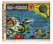 Anglo Wax Wrapper Men Of Progress #8 Swiss Inventor Explorer Auguste Piccard