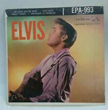 "Elvis Presley RCA EPA 993 ""ELVIS"" (ROCKABILLY EP 45)  PLAYS STRONG VG+ TO VG++"