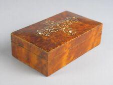 Vintage Caja Cajita en Madera E Radica Con Decoración Incrustado