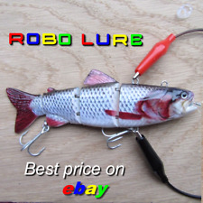 Realscale rechargeable jointed robotic live fish bait lure pike perch usb plug !