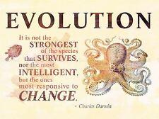 Evoluzione Darwin reattiva cambiare più forti preventivo polpo POSTER qu237a