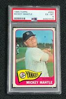 New York Yankees Mickey Mantle 1965 Topps #350 PSA 6 Ex-Mt