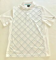 Greg Norman Polo Golf Shirt Mens M White Tasso Elba