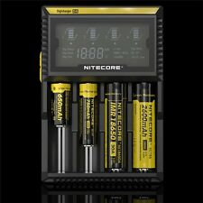 AU Plug Original Nitecore D4 Intelligent Battery Charger For 16430 22650 18650
