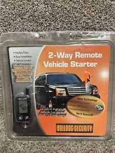 Bulldog Security 2 Way Remote Starter Deluxe 500 DIY Keyless Entry 1/2 mi Range