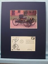 Henry Ford develops the Quadricycle & First day Cover of his own stamp
