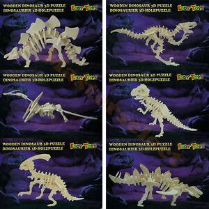 Dinosaure 3D squelette bois à monter soi même pour décoration puzzle