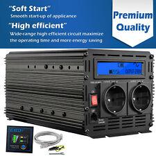 1500W 3000W Onda Sinusoidale Pura Inverter 24V 220V LCD Invertitore EDECOA