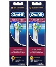 6 GENUINE BRAUN ORAL-B FLOSS ACTION TOOTHBRUSH REPLACEMENT BRUSH HEADS EB25-4 3