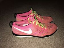 Nike Free Flyknit Focus TR Womens Size 7 Pink Training Sneakers Shoes Run