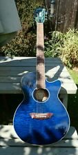 Washburn EA18TBL electro acoustic guitar with case