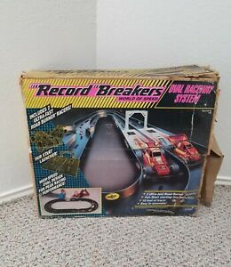 HASBRO RECORD BREAKERS WORLD OF SPEED OVAL RACEWAY SYSTEM TRACK 1989 USED