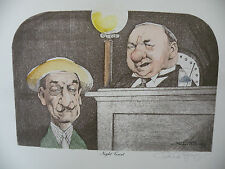 Art print Charles Bragg artistic Signed Color Lithograph MIGHT COURT limited E.