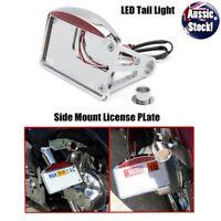 License Plate Bracket Side Mount Tail LED Brake Light FO Harley Davidson Chopper