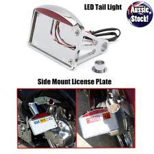 Side Mount License Plate Tail Light 12V Bracket 4 Harley Chopper Bobber Chrome