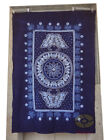 """Handmade Indigo Tie Dye Rural Style Tablecloth Table Cover Tapestry 63""""L x 43""""W"""